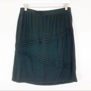 Max Edition Black Elastic Waist Skirt - Size M
